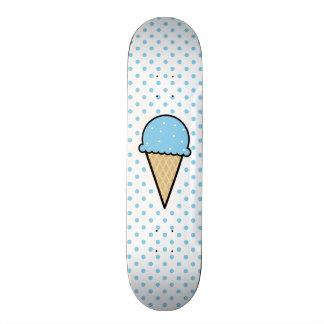 Baby Blue Ice Cream Cone Skateboard Deck