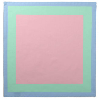 Baby Blue Mint and Pink Napkins