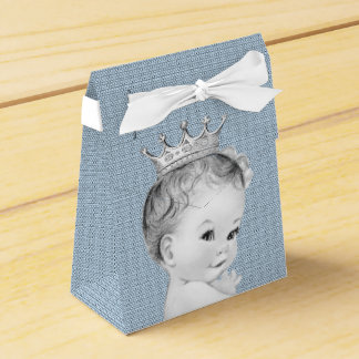Baby Blue Prince Baby Shower Favour Box
