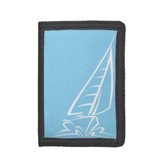 Baby Blue Sailing Tri-fold Wallets