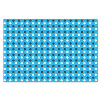 Baby Blue, White and Black Polka Dots Tissue Paper