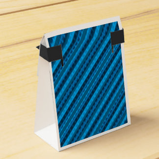 Baby Blues Striped Geometric Custom Favor Box Wedding Favour Boxes