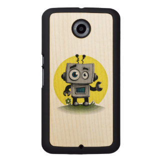 Baby Bot Wood Phone Case