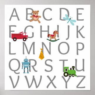 Baby Boy Alphabet Poster