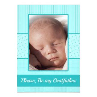Baby Boy be my Godfather Invitation