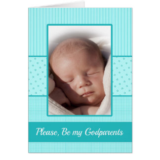 Baby Boy be my Godparents  Invitation