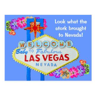 Baby Boy Birth Announcement Las Vegas Postcard