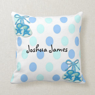 Baby Boy Booties Keepsake Pillow