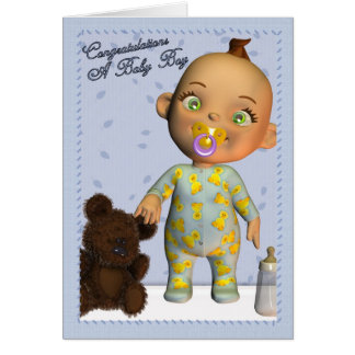 Baby Boy Congratulations Card