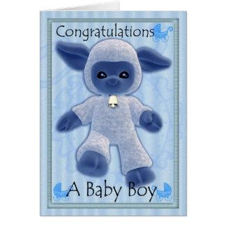 baby boy congratulations, new baby greeting card