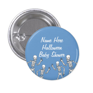 Baby Boy Halloween Skeleton Baby Shower Buttons