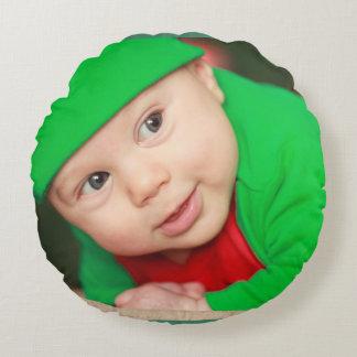 Baby Boy Image Round Cushion