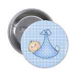 Baby Boy in Blanket Pinback Buttons