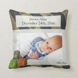 Baby Boy Photo Keepsake Throw Pillow