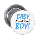 Baby Boy Proud Dad Buttons