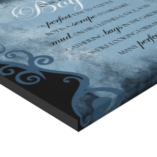 BABY BOY scrolls Gallery Wrapped Canvas