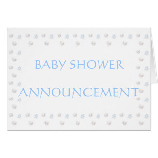 BABY BOY SHOWER ANNOUNCEMENT