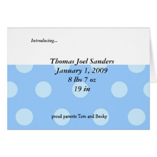 Baby Boy Shower Invitation Note Card