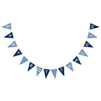 Baby Boy Tamchin Navy, Blue and White Banner