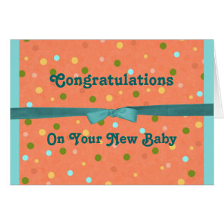 Baby Bubbles Congratulations On Your New Baby Card