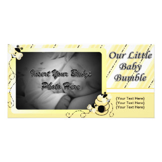 Baby Bumble Announcement Personalised Photo Card