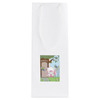 Baby Bunny Cartoon Wine Gift Bag