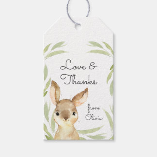 Baby Bunny Rabbit Thank You Favour Gift Tags