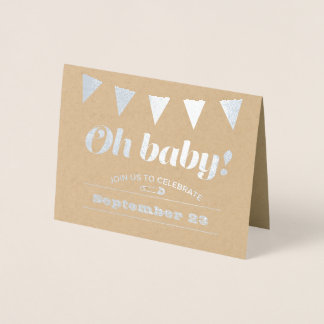 Baby Bunting Foil Card