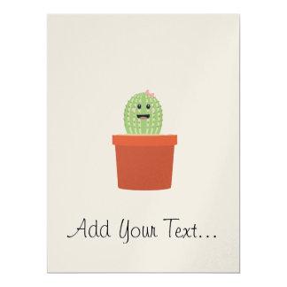 Baby cactus 17 cm x 22 cm invitation card