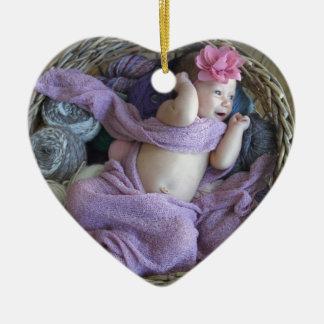 Baby Ceramic Heart Decoration