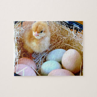 Baby Chick Easter Basket Puzzle