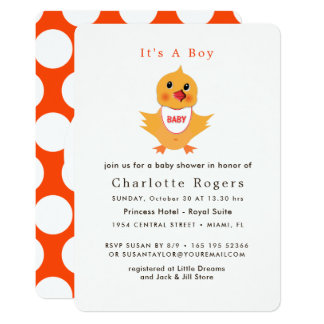 Baby Chicken Yellow Chick Cute Baby Shower Card