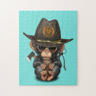 Baby Chimp Zombie Hunter Puzzles