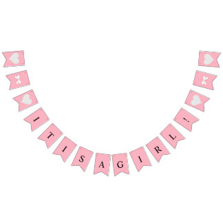 BABY & CO It's A Girl Party Bunting Banner