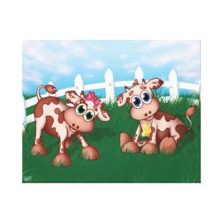 Baby Cows Canvas Print