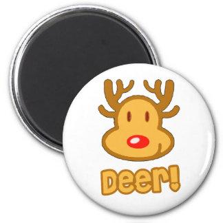 Baby Deer Cartoon Magnet