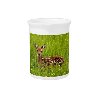 Baby Deer Fawn Pitcher