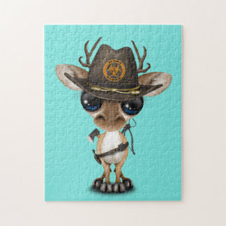 Baby Deer Zombie Hunter Puzzle