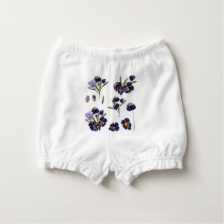 Baby diapers with handdrawn flowers nappy cover