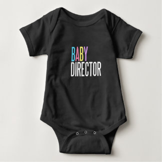 Baby director jersey bodysuit dark