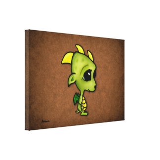 Baby Dragon Gallery Wrapped Canvas