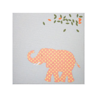 Baby Elephant print for baby room. Canvas Print