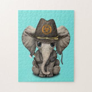 Baby Elephant Zombie Hunter Jigsaw Puzzle
