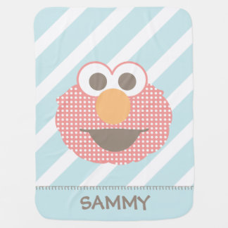 Baby Elmo Big Face Polka Dot | Add Your Name Baby Blanket