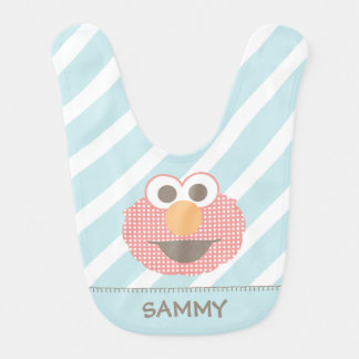 Baby Elmo Big Face Polka Dot | Add Your Name Bib