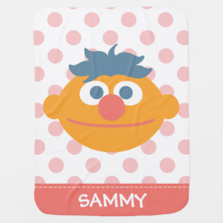 Baby Ernie Face | Add Your Name Baby Blanket