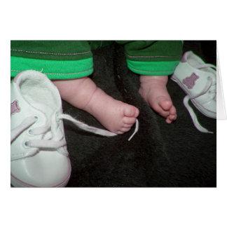 Baby Feet Girl Card