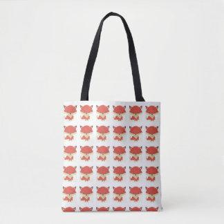 Baby Fox Pattern Tote Bag
