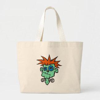Baby Frankenstein Large Tote Bag