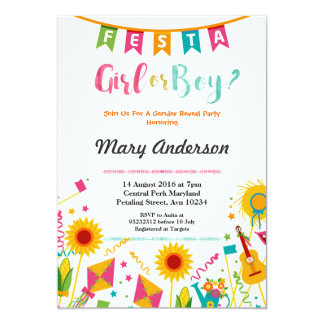 Baby Gender Reveal Mexican Fiesta Invitation